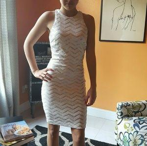 Sequin chevron print dress